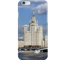 Moscow skyscraper, view from Moscow-river iPhone Case/Skin