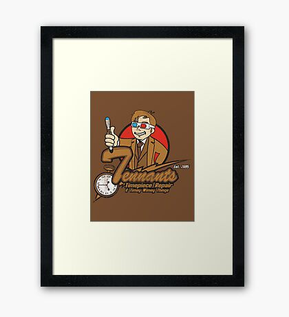 Tennants Timepieces Poster Framed Print