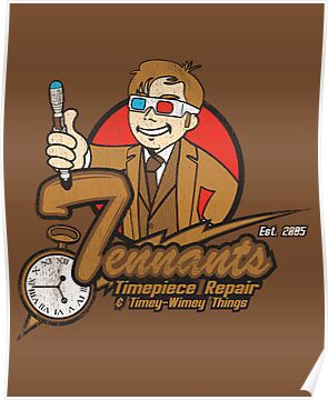 Tennants Timepieces Poster by rtofirefly