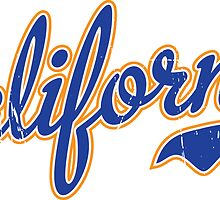 California Script Blue VINTAGE by USAswagg