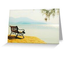 Autumn Afternoon By The Sea Greeting Card