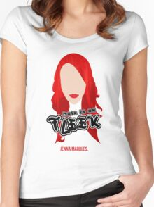 """Hair on Fleek"" - Jenna Marbles Women's Fitted Scoop T-Shirt"