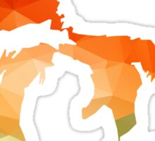 Michigan - Great Lakes in Fractal Colors Sticker