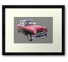 1950 Ford Custom Deluxe Classsic Car Framed Print