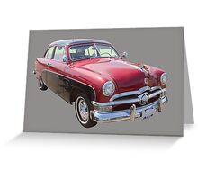 1950 Ford Custom Deluxe Classsic Car Greeting Card