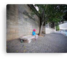 l'attendue sur la Seine Canvas Print