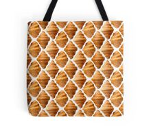 Background pattern made of croissants Tote Bag