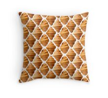 Background pattern made of croissants Throw Pillow