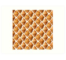 Background pattern made of croissants Art Print