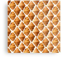 Background pattern made of croissants Metal Print