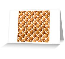 Background pattern made of croissants Greeting Card