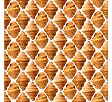 Background pattern made of croissants Photographic Print