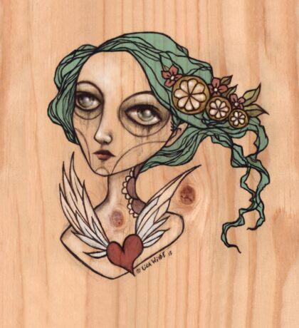 My Heart will Fly Away. Lemon Girl Sticker