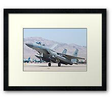 F-15S Eagle #9212 Touches Down Framed Print