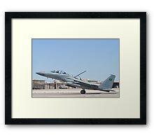 Side Shot of F-15S Eagle #9214 Landing Framed Print