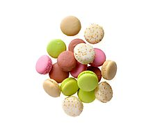 Heap of multicolored macarons Photographic Print