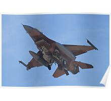 Belly shot of an F-16C Fighting Falcon Poster
