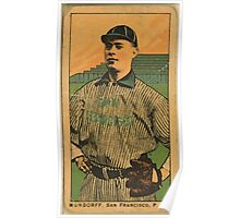 Benjamin K Edwards Collection Mundorff San Francisco Team baseball card portrait 001 Poster