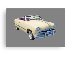 1949 Ford Custom Deluxe Convertible Antique Car Canvas Print