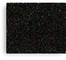 BLACK GLITTER Canvas Print