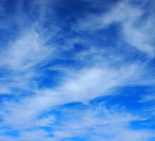 Background of white cirrus clouds  by vladromensky