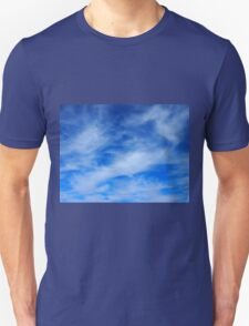 Background of white cirrus clouds  T-Shirt