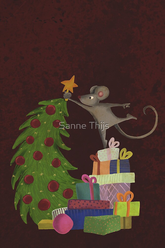 On top of the mousechristmastree by Sanne Thijs