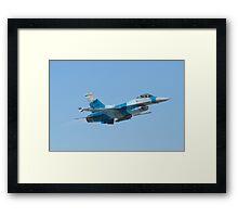 #WA AF 86 0251 F-16C Fighting Falcon Taking Off Framed Print