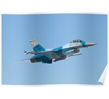 #WA AF 86 0251 F-16C Fighting Falcon Taking Off Poster