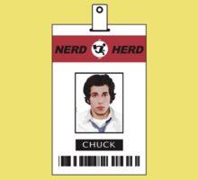 Chuck Nerd Herd ID Card Shirt One Piece - Short Sleeve