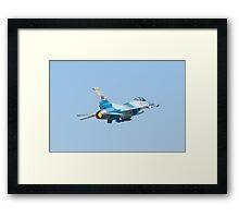 Rear shot of #WA AF 89 0053 F-16C Fighting Falcon Framed Print