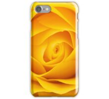 Yellow rose close-up shot iPhone Case/Skin