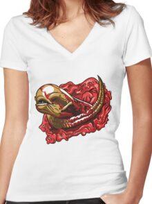 Chestburster  Women's Fitted V-Neck T-Shirt