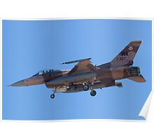 WA AF 87-0307 F-16C Fighting Falcon Poster