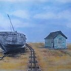 Dungeness beach, Kent by Lesley Rowe