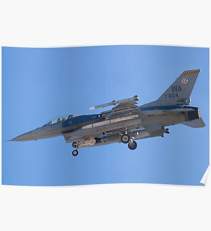 WA AF 91-0404 F-16C Fighting Falcon Poster