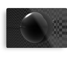 Black Checkers Metal Print