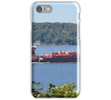 TUG AND BARGE ON THE HUDSON iPhone Case/Skin
