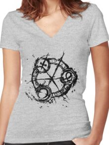 9 (Nine) Ink Source Women's Fitted V-Neck T-Shirt