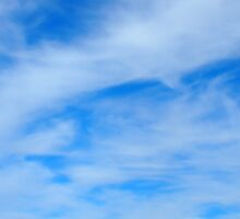 Panorama of the sky over the lake of white cirrus clouds Sticker