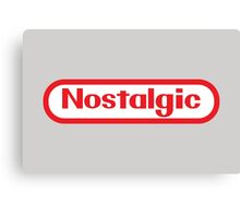 NES Collection : Nostalgic Logo Canvas Print