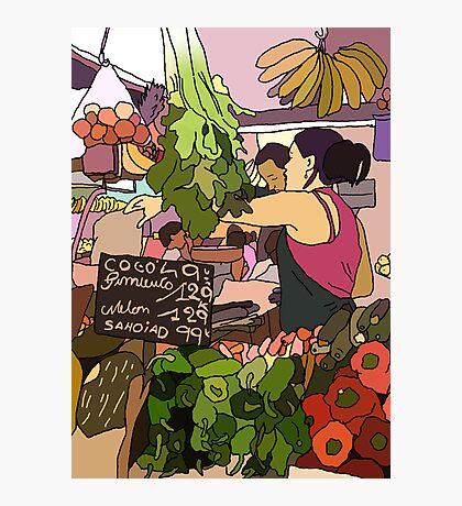 fruit n veg market  Photographic Print