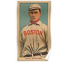 Benjamin K Edwards Collection Jake Stahl Boston Red Sox baseball card portrait 002 Poster