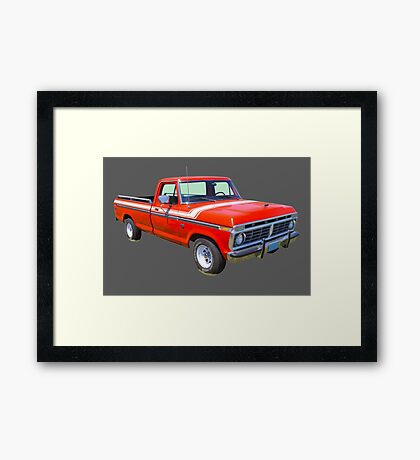 1975 Ford F100 Explorer Pickup Truck Framed Print