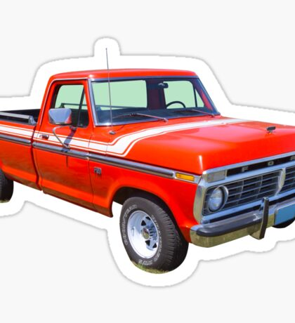1975 Ford F100 Explorer Pickup Truck Sticker
