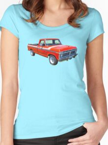 1975 Ford F100 Explorer Pickup Truck Women's Fitted Scoop T-Shirt