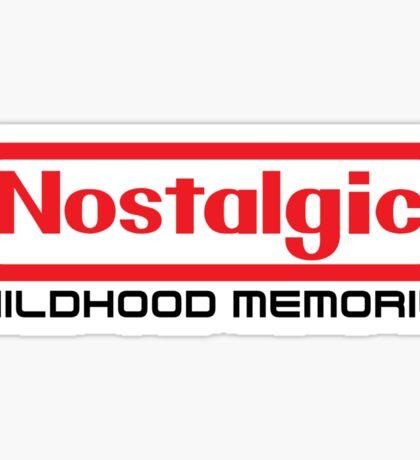 NES Collection : Nostalgic Childhood Memories Sticker