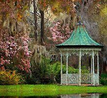 Spring Magnolia Garden At Magnolia Plantation by Kathy Baccari