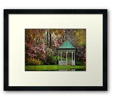 Spring Magnolia Garden At Magnolia Plantation Framed Print