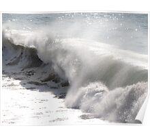 High waves in the winter - Olas altas en el invierno Poster